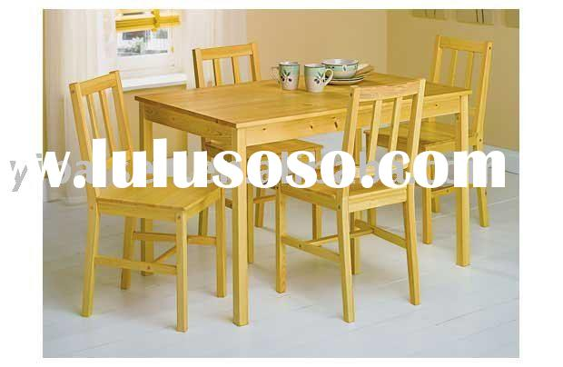 wooden/wood furniture home dining room furniture pine dining set table and chair