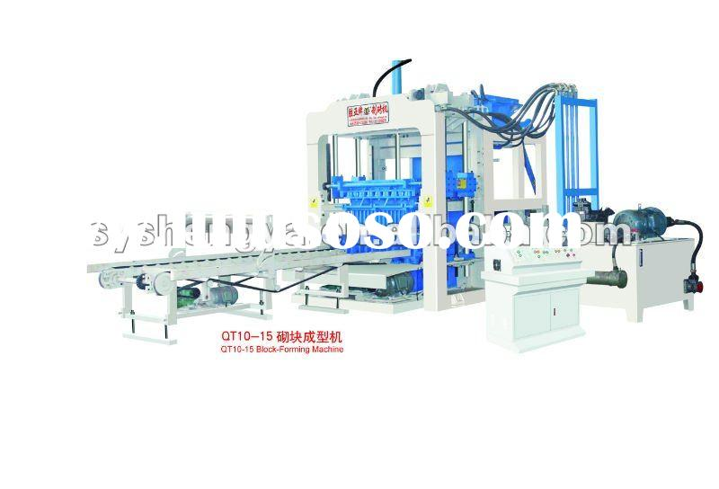 yiwu block machine,automatic cement brick making machine QT10-15