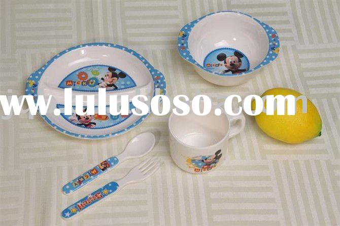 100% melamine tableware for kids