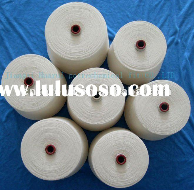 100 pct spun polyester yarn , 20s/2 30s/2 raw white sewing thread