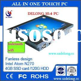 10.4inch Fanless all-in-one pc/touch panel PC/Industrial AIO computer