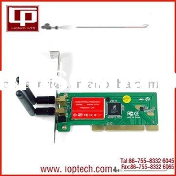 150,300 Mbps 802.11n PCI Wireless LAN Card with Antenna, wireless network card