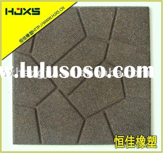 "16""Rubber Brick Paver Mat recycled rubber tiles"