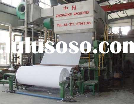 1880mm toilet tissue paper machine(raw material is waste paper and wood pulp)