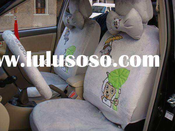 18PCS univisal soft velvet cartoon Pleasant Goat winter car seat covers car accessories
