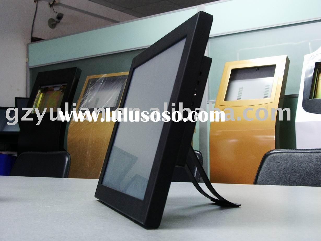 "19""LCD flat industrial Touch Screen Computer/Intel Atom Fanless touch panel pc"