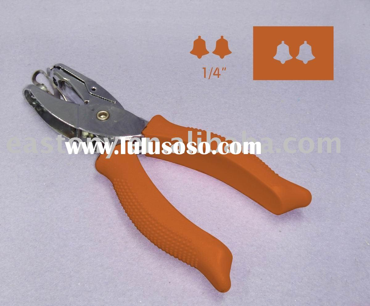 "1/4"" Bell Shape Paper Hole Puncher with Solf Handle Good for Tickets Punching Pliers Style Hand"