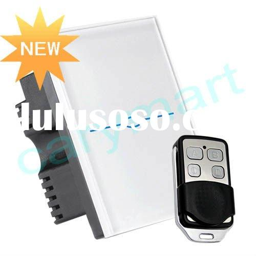1 Gang 2 Way Remote Touch Wall Light Switch, Smart Touch Screen Light Switch with Mini Remote Contro