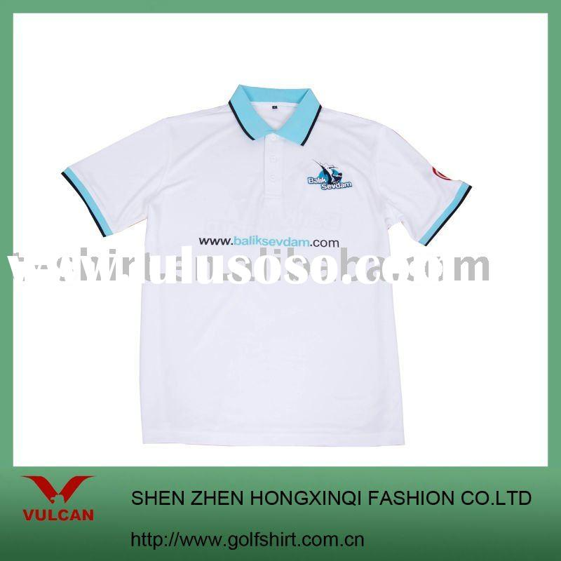 2011 Coolmax men's polo t-shirt with water and ink printing logo