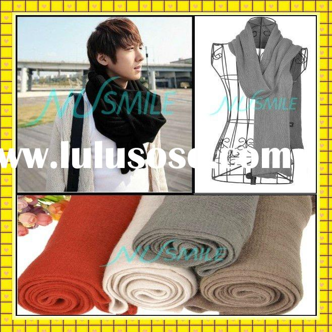 2011 Fashion mens/men suit scarf knitting pattern NUS01TC02