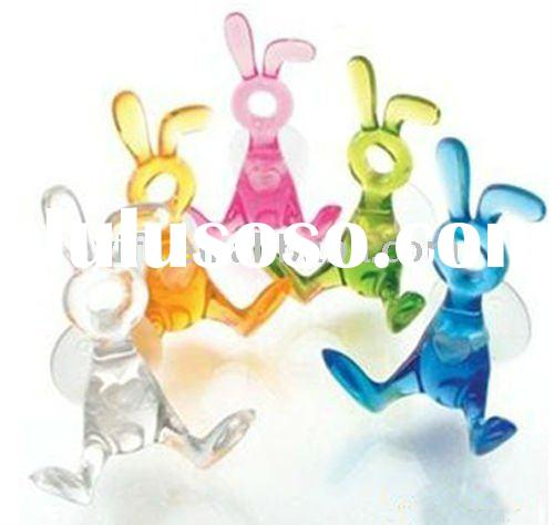 2011 New Arrival -Colorful cartoon plastic towel hook,with Suction Hook