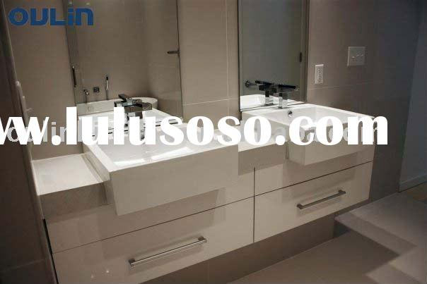 2011 New modular white Bathroom sinks and cabinets, Kitchen furniture(E1/E2 Standard)