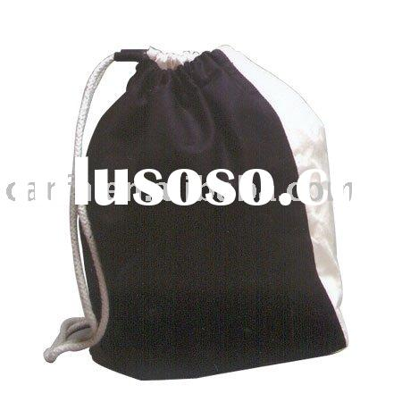 2011 new wholesale cotton fabric drawstring bag