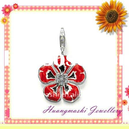2011 newest wholesale and retail flower charms enamel flower charms