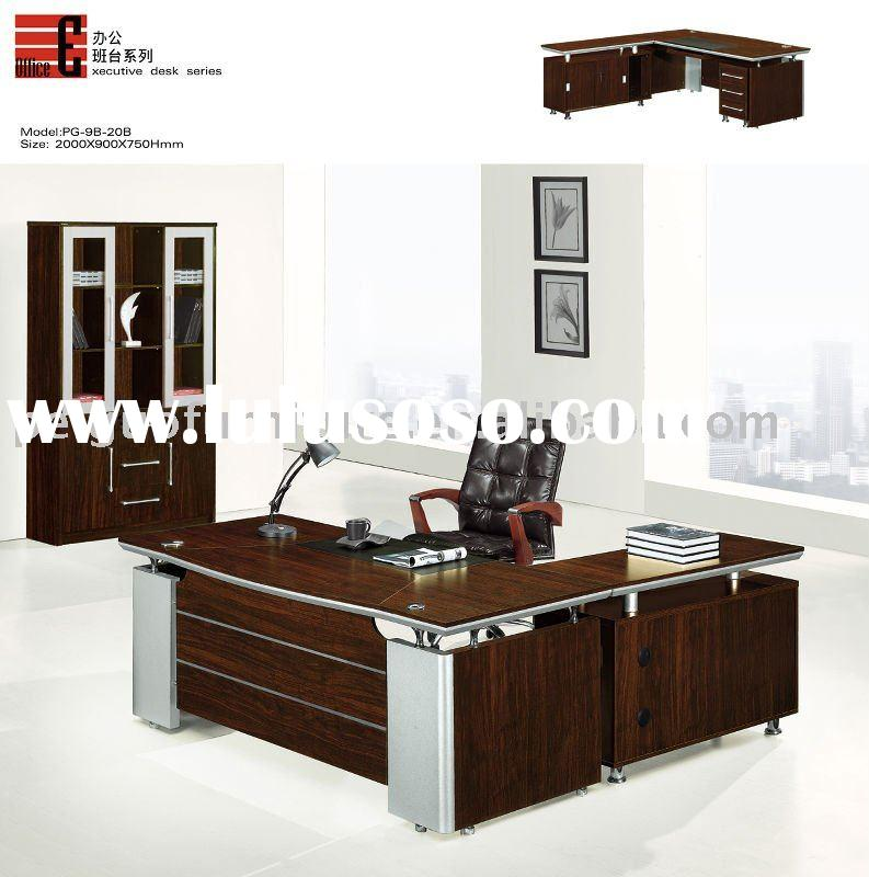 2012PG-9B-20B#Modern Top Wooden Office Furniture Executive Desk 2M