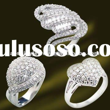 2012 Hot Selling 925 Sterling Silver Micro Setting CZ Rings