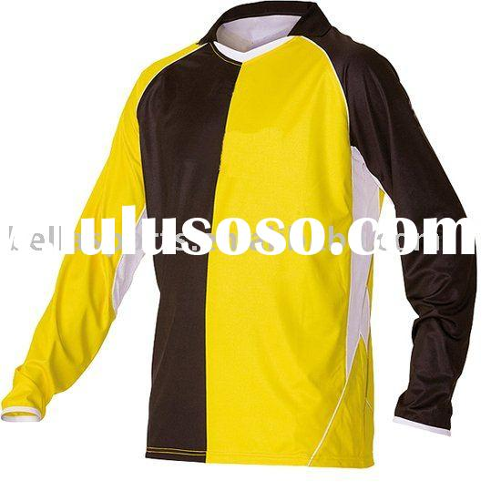 2012 Long Sleeve Printing Men's Polyester Soccer Jersey