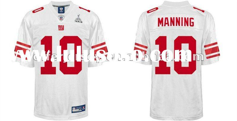 2012 Super Bowl XLVI New York Giants Football Jerseys #10 Eli Manning Authentic White Jersey 48-56