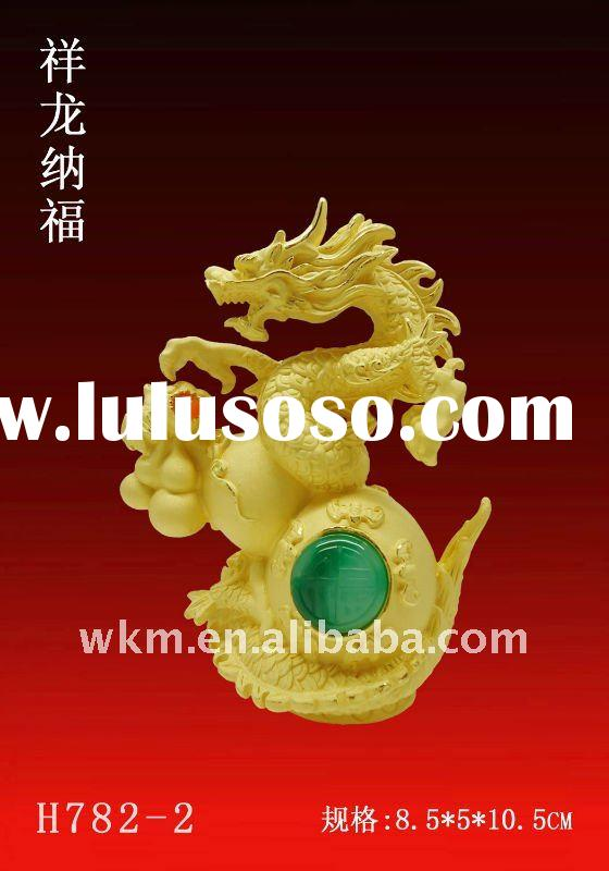 2012 new year gift golden chinese dragon