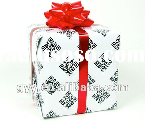 2012 pretty gift printed wrapping paper logo