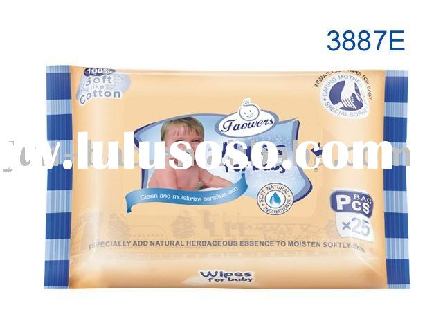 25pcs/bag baby wet wipes