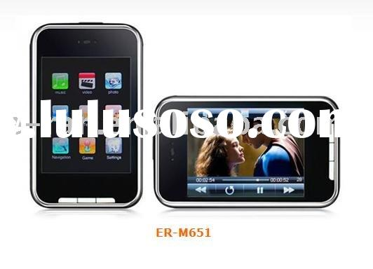 "2.8"" screen high clear TFT touch panel MP4 player / Support mini SD card"