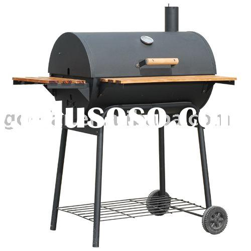 """30"""" Charcoal BBQ Grill & Smoker (off-set Barrel style)"""