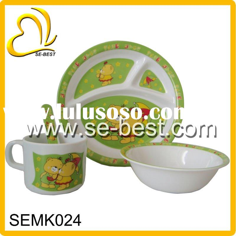3PCS MELAMINE TABLEWARE FOR KIDS