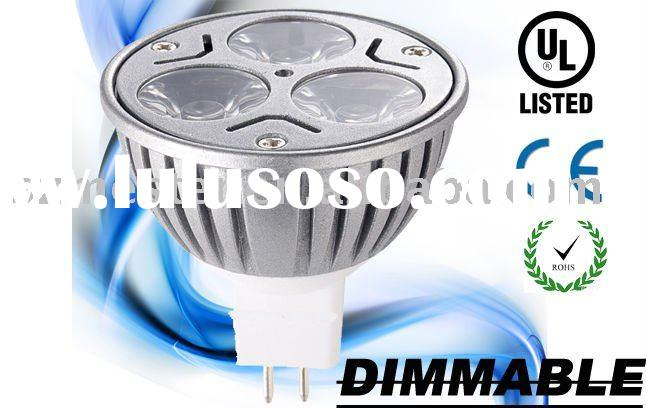 3*3w GU5.3 mr16 led dimmable ul listed