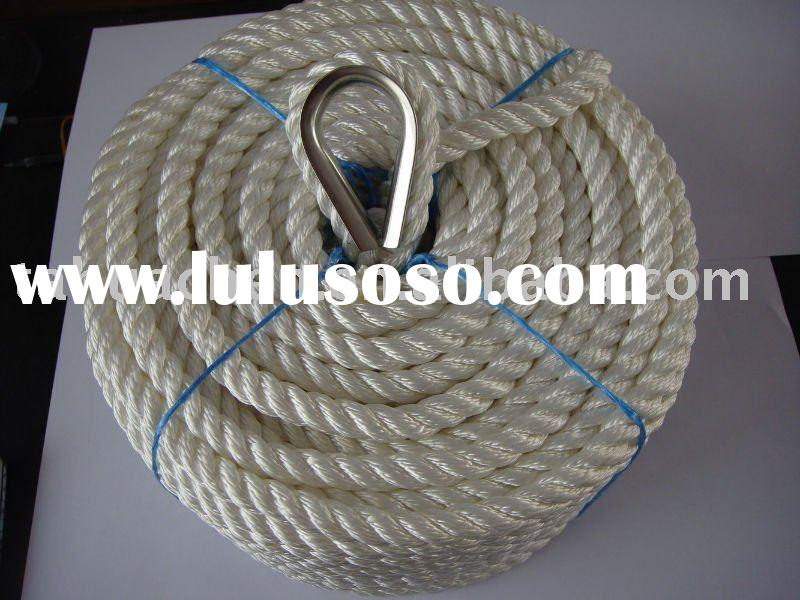 3 strands dural anchor polyester rope for ship
