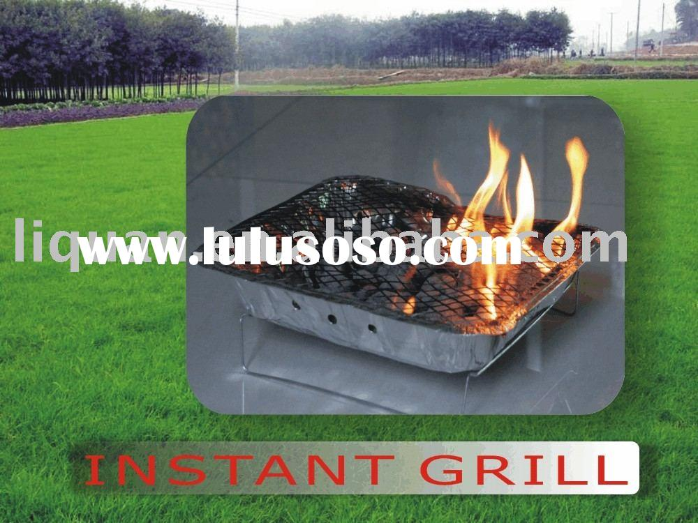 4831# Instant grill BBQ charcoal grill One time use BBQ
