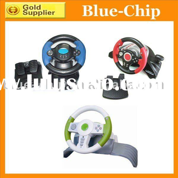 4in1 USB Car Racing Steering wheel for XBOX360