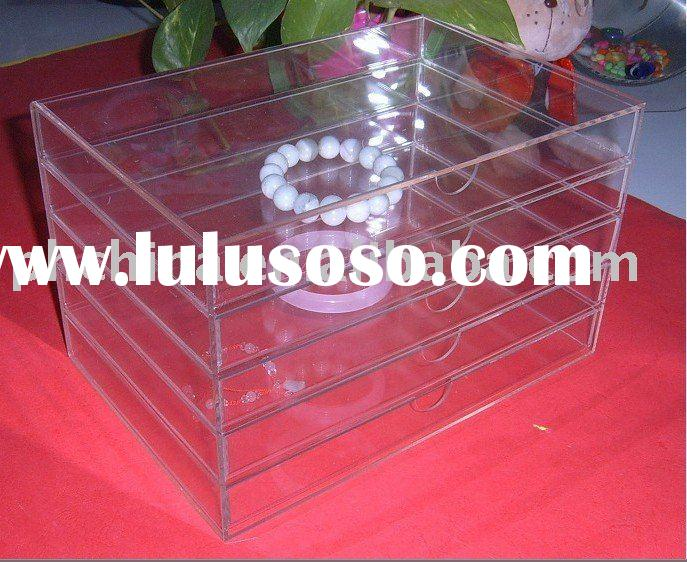 5 Tier Clear Acrylic Jewelry Display Box;5 Drawers Acrylic Jewelry Display Box;Acrylic Jewelry Holde