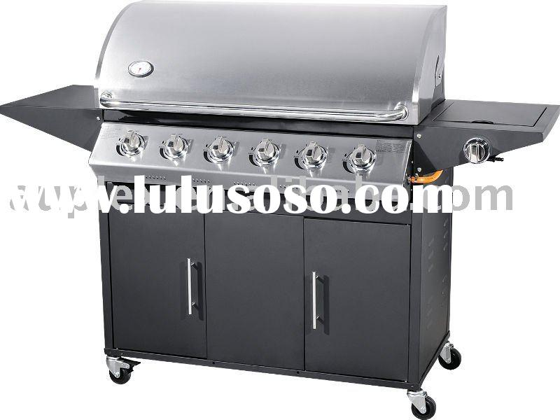 6-burners bbq gas grill CE stainless steel/gas bbq grill