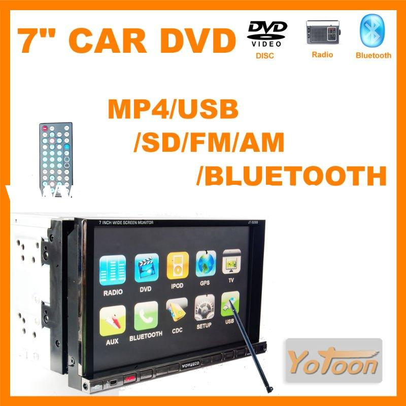 "7"" 2 din car DVD player Digital screen MP4(AVI/DIVX/5.X);DVD/VCD/SVCD/WMA/MP3/JPEG disc+fast de"