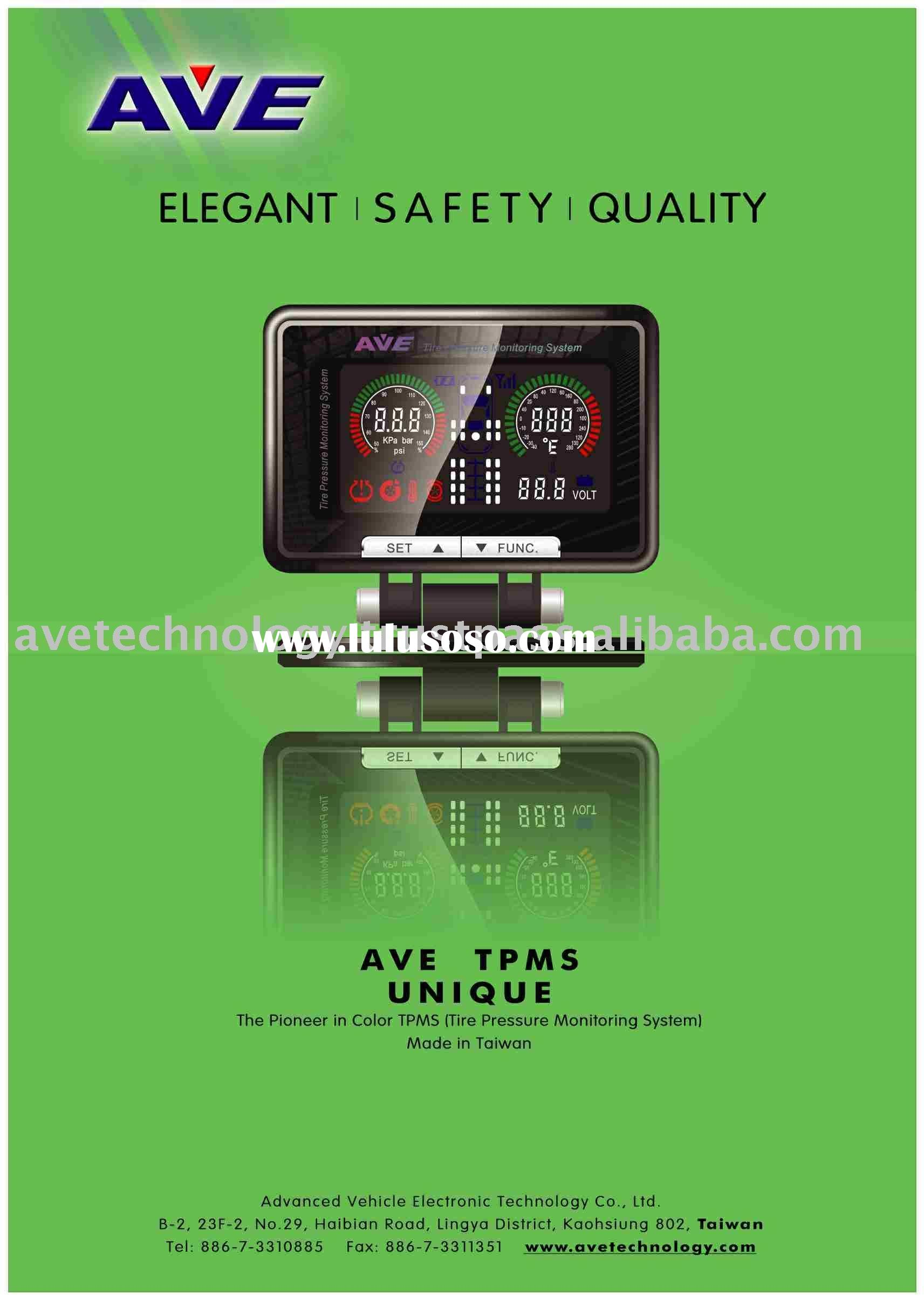 AVE Color LCD TPMS + Auto Electronic FUEL SAVER 15~25% on gasoline,10~20% on truck diesel fuel Tire