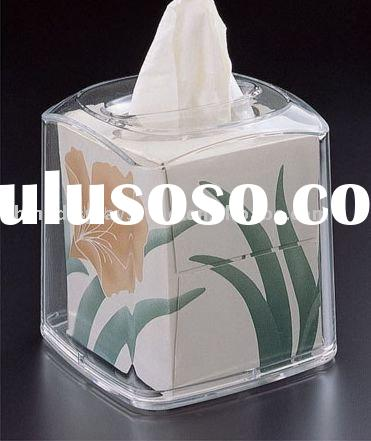 Acrylic Curved Top Boutique Tissue Box Cover