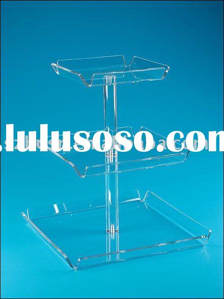 Acrylic Tray Tower,3 Tier Acrylic Tray,Acrylic Serving Tray