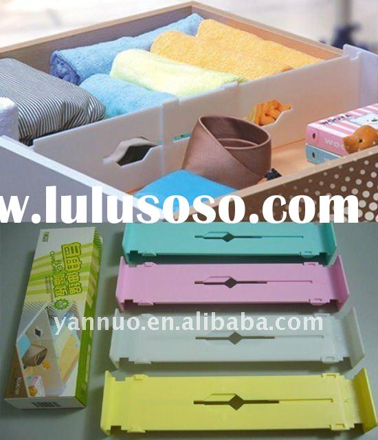 Adjustable plastic drawer dividers,drawer organizer