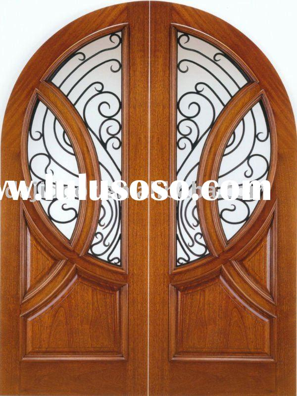 Arched Outer Solid Wood Exterior Door DJ-S8185