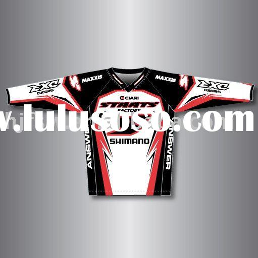 BMX shirts racing wear sublimation racing shirts