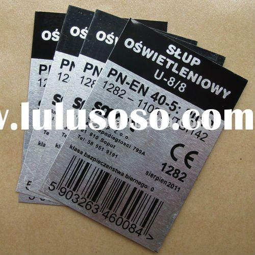 Barcode Serial Number Printed,Self-adhesive Brushed Aluminum Labels and Plates