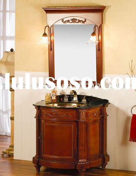 Bathroom furniture,bathroom cabinet with vanity top and ceramic sink