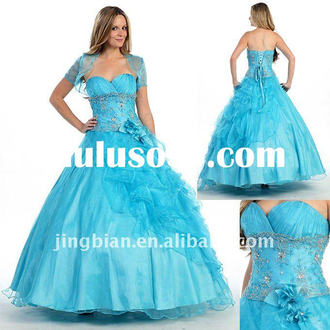 Beauty contest dresses, wedding dresses, ballroom gala dresses Blue Gorgeous Prom Dresses PD120