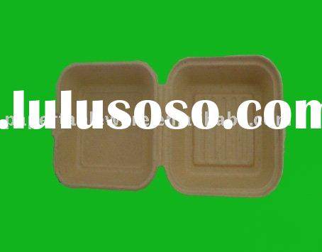 Biodegradable paper tableware,Disposable paper clamshell,bamboo lunch box,hamburger box,Disposable h