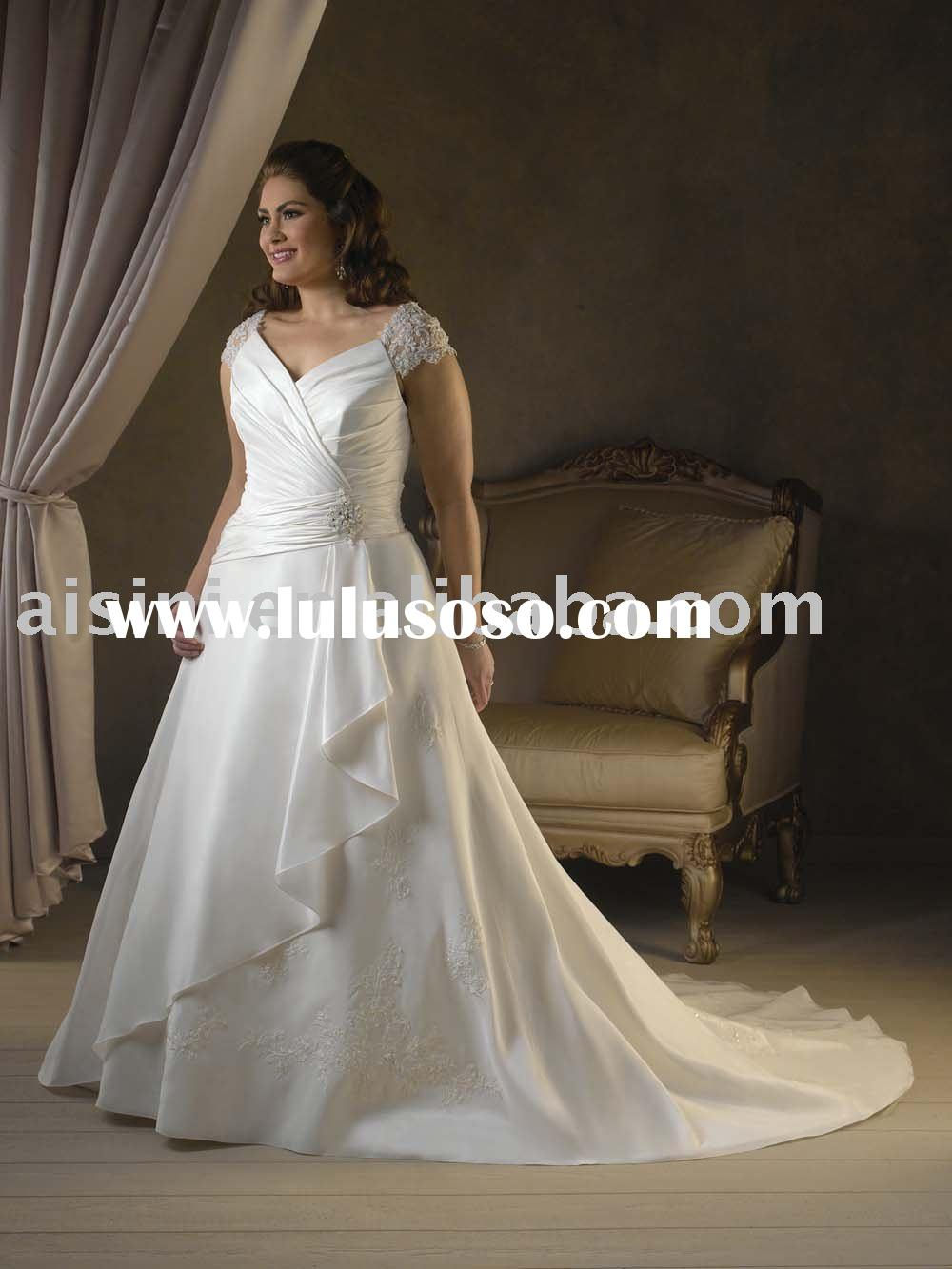 Bonny Bridal, Style 1017 wedding dress, Unforgetable Plus Size A-line Taffeta wedding gowns