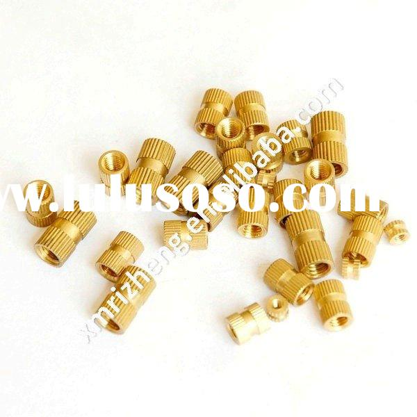 Brass Knurled Connector, Electrical Connector, Brass Insert