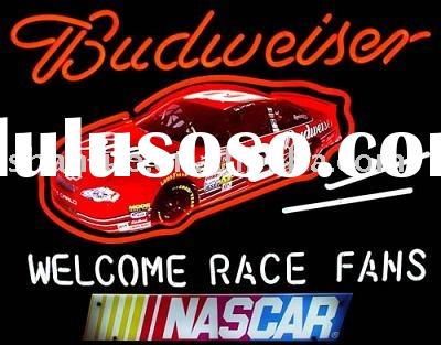 Budweiser Dale Jr Nascar Welcome race fans neon sign