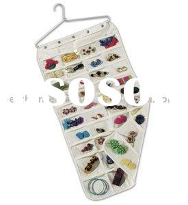 Canvas 80 Pocket Hanging Jewelry Organizer