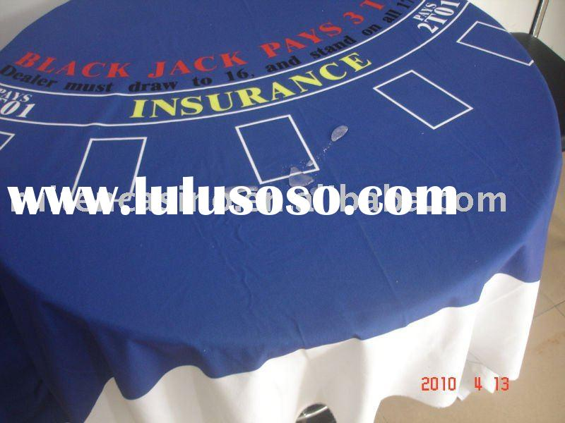 Casino Style Blackjack table Cloth,blackjack layout,gambling layout